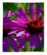 Purple Daisy's Fleece Blanket