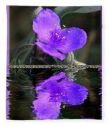 Purple Elegance - Spider Wort Fleece Blanket