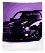 Purple Firebird Fleece Blanket