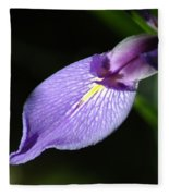 Japanese Iris Petal Fleece Blanket