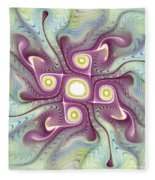 Purple Fractalishus Fleece Blanket