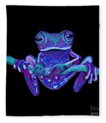 Purple Ghost Frog Fleece Blanket
