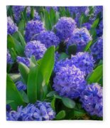 Purple Hyacinths Fleece Blanket
