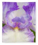 Purple Iris Bliss Fleece Blanket