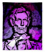Purple Lincoln Fleece Blanket