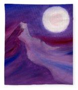 Purple Night 2 Fleece Blanket
