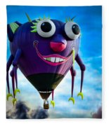 Purple People Eater Fleece Blanket