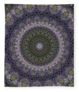 Purple Pleasure Abstract Fleece Blanket