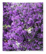 Purple Screen Square Fleece Blanket