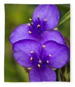 Purple Spiderwort 1 Fleece Blanket