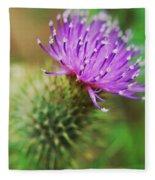 Purple Spikes Fleece Blanket