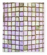 Purple Tiles Fleece Blanket