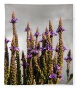 Purple Wildflowers  Fleece Blanket