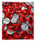Push Chevys Buttons Fleece Blanket