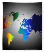 Puzzle World Treasure Map Fleece Blanket