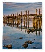 Pylons In Humboldt Bay Fleece Blanket