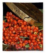 Pyracantha Berries Fleece Blanket