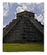 Pyramid  Of Kukulkan  Fleece Blanket