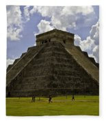 Pyramid Of Kukulkan Two Fleece Blanket