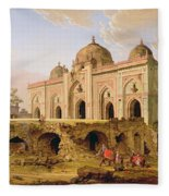 Qal' A-l-kuhna Masjid - Purana Qila Fleece Blanket