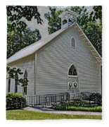 Quaker Church Pencil Fleece Blanket
