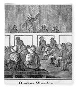 Quaker Worship, 1842 Fleece Blanket