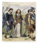 Quakers: Mary Dyer, 1659 Fleece Blanket
