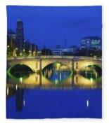 Queens Street Bridge, River Liffey Fleece Blanket