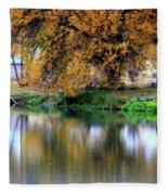 Quiet Autumn Day Fleece Blanket