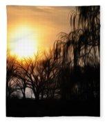 Quiet Country Sunrise Fleece Blanket