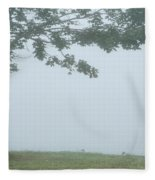Quiet Fog Rolling In Fleece Blanket