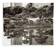 Quiet Moment In Tokyo Fleece Blanket