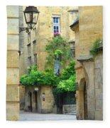 Quiet Street In Sarlat Fleece Blanket