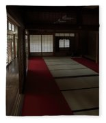 Quietude Of Zen Meditation Room - Kyoto Japan Fleece Blanket