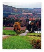 Quilted Hills Fleece Blanket