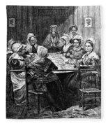 Quilting Party, 1864 Fleece Blanket