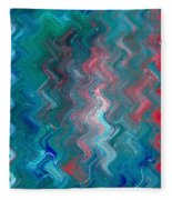R G B Fleece Blanket