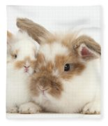 Rabbit And Baby Bunny Fleece Blanket