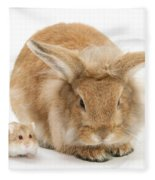 Rabbit And Dwarf Hamster Fleece Blanket