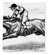 Race Horse, 1900 Fleece Blanket