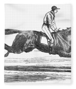 Racehorse, 1856 Fleece Blanket
