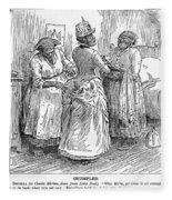 Racial Caricature, 1886 Fleece Blanket