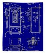 Radio Phone Patent Fleece Blanket