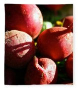 Radishes At Sunrise Fleece Blanket
