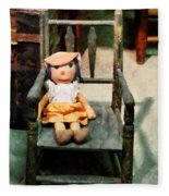 Rag Doll In Chair Fleece Blanket
