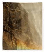 Rainbow On The Rocks Fleece Blanket