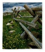 Rail Fence No.1812 Fleece Blanket