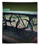 Rail Road Wagon Fleece Blanket