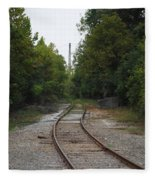 Rail To The Forest Fleece Blanket