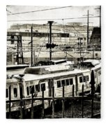 Rail Yard Blues Fleece Blanket